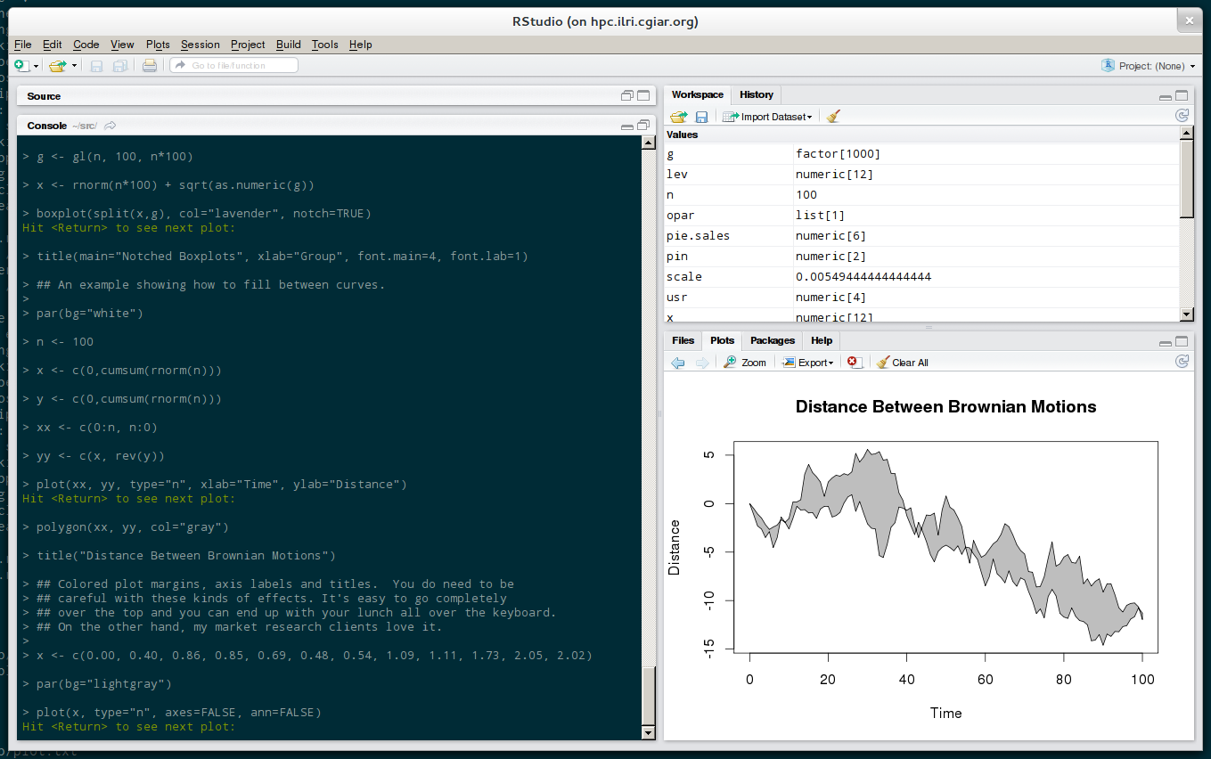 Installing RStudio — an advanced GUI for R — on CentOS 6